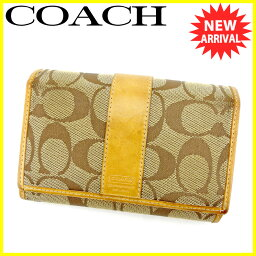 COACH【コーチ】 二つ折り財布(小銭入れあり) /キャンバス×レザー