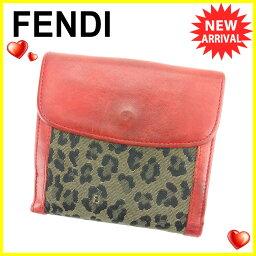 FENDI【フェンディ】 二つ折り財布(小銭入れあり) キャンバス/レザー レディース