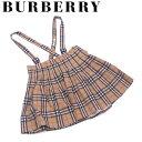 【中古】 バーバリー BURBERRY スカート サロペット ガールス レディース ♯13サイズ キッズ ノバチェック ベージュ ブラック レッド 人気 セール S728