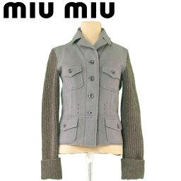 MIUMIU【ミュウミュウ】 その他 /(前身頃)ヴァージンウール80%モヘア20%(後身頃&袖&襟)ウール毛100% レディース