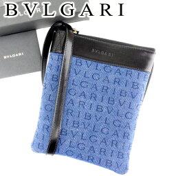 BVLGARI【ブルガリ】 ショルダーバッグ /キャンバス×レザー レディース