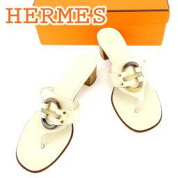 HERMES【エルメス】 サンダル /レザー×バッファローホーン レディース