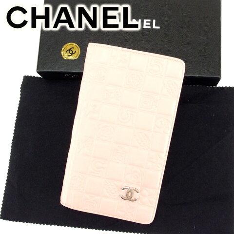 【中古】 シャネル 長財布 さいふ ファスナー付き 長財布 さいふ アイコンシリーズ ピンク レザー CHANEL 長サイフ サイフ 収納ブランド財布 さいふ ユニセックス 小物 人気 贈り物 迅速発送 在庫処分 1点物 T6849 ブランド