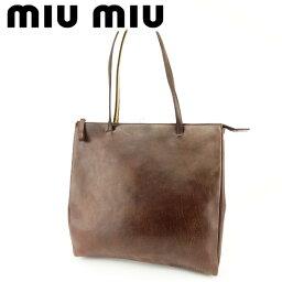 MIUMIU【ミュウミュウ】 トートバッグ キャンバス/レザー レディース