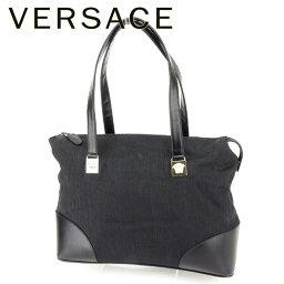 Gianni Versace【ジャンニ・ヴェルサーチ】 トートバッグ /キャンバス×レザー レディース