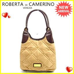 Roberta di Camerino【ロベルタ・ディ・カメリーノ】 トートバッグ /ナイロン×レザー レディース