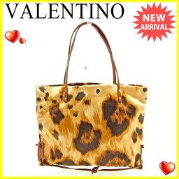 VALENTINO【ヴァレンティノ】 トートバッグ /キャンバス×レザー レディース