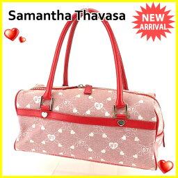 Samantha Thavasa【サマンサタバサ】 ショルダーバッグ /キャンバス×レザー レディース