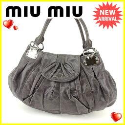 MIUMIU【ミュウミュウ】 トートバッグ /アンティーク調レザー レディース