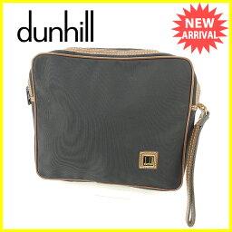 Dunhill【ダンヒル】 クラッチバッグ /キャンバス×レザー 男女兼用