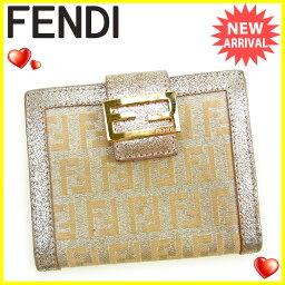 FENDI【フェンディ】 二つ折り財布(小銭入れあり) /キャンバス×レザー レディース