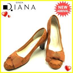 DIANA【ダイアナ】 パンプス /キャンバス×レザー レディース