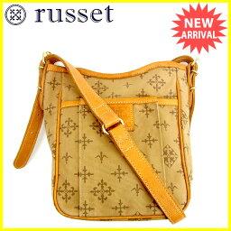 russet【ラシット】 ショルダーバッグ /キャンバス×レザー レディース