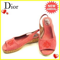 Dior【ディオール】 サンダル /キャンバス×コルク レディース