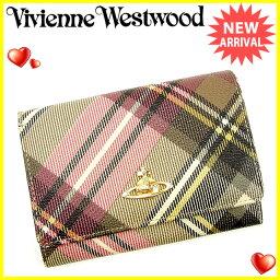 Vivienne Westwood【ヴィヴィアン・ウエストウッド】 二つ折り財布(小銭入れあり) /PVC×レザー レディース