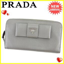 PRADA【プラダ】 長財布(小銭入れあり) /サフィアーノレザー レディース