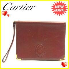 CARTIER【カルティエ】 クラッチバッグ /レザー レディース