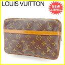 【中古】 ルイ ヴィトン クラッチバッグ Louis Vuitton ブラウン E1150s .