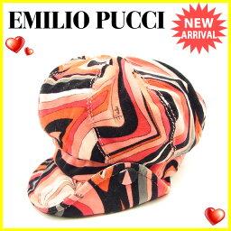 Emilio Pucci【エミリオ・プッチ】 帽子 /綿100% レディース