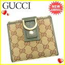 【中古】 グッチ Gucci Wホック財布 二つ折り財布 レディース ...