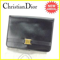 Christian Dior【クリスチャンディオール】 セカンドバッグ /レザー レディース