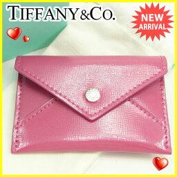 TIFFANY&Co.【ティファニー】 カードケース /エナメルレザー ユニセックス