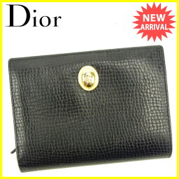 Christian Dior【クリスチャンディオール】 二つ折り財布(小銭入れあり) /レザー レディース