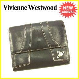 Vivienne Westwood【ヴィヴィアン・ウエストウッド】 二つ折り財布(小銭入れあり) /レザー レディース