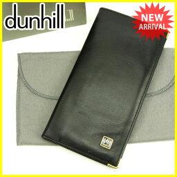 Dunhill【ダンヒル】 長財布(小銭入れなし) /レザー レディース