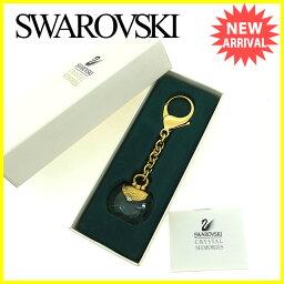 SWAROVSKI【スワロフスキー】 キーホルダー /クリスタルガラス×ゴールド金具 男女兼用