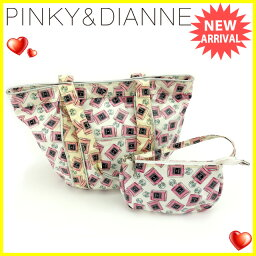 Pinkey & Dianne【ピンキー&ダイアン】 トートバッグ /ビニールコーティングキャンバス レディース