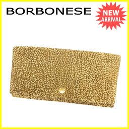 BORBONESE【ボルボネーゼ】 長財布(小銭入れあり) /スエード×レザー レディース