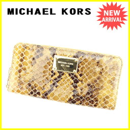 Michael Kors【マイケルコース】 長財布(小銭入れあり) /型押しレザー レディース