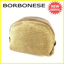 BORBONESE【ボルボネーゼ】 セカンドバッグ /スエード×レザー レディース