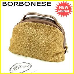 BORBONESE【ボルボネーゼ】 ハンドバッグ /スエード×レザー レディース
