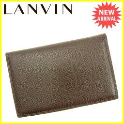 LANVIN【ランバン】 カードケース /レザー ユニセックス