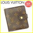 ルイヴィトン LOUIS VUITTON 二つ折り財布 メンズ可 コンパクトジップ モノグラム PVC×レザ- 【中古】 J13964