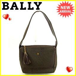 BALLY【バリー】 ショルダーバッグ /キャンバス×レザー レディース