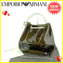 Emporio Armani【エンポリオ・アルマーニ】 ハンドバッグ /ビニール×レザー レディース
