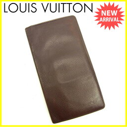 LOUIS VUITTON【ルイ・ヴィトン】 7980 二つ折り財布(小銭入れあり) /タイガレザ- レディース