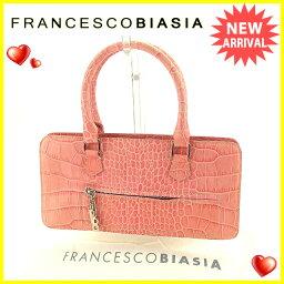 FRANCESCO BIASIA【フランチェスコ・ビアジア】 ハンドバッグ /型押しレザー レディース