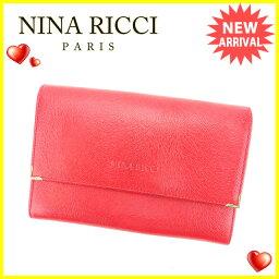 NINA RICCI【ニナリッチ】 二つ折り財布(小銭入れあり) /レザー レディース