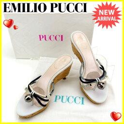 Emilio Pucci【エミリオ・プッチ】 サンダル /レザー×コルク レディース