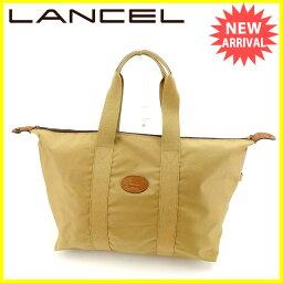 LANCEL【ランセル】 ハンドバッグ /キャンバス×レザー レディース