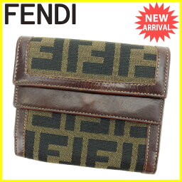 FENDI【フェンディ】 三つ折り財布(小銭入れあり) /キャンバス×レザー ユニセックス