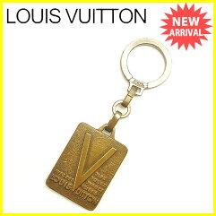 LOUIS VUITTON【ルイ・ヴィトン】 キーホルダー /ゴールド&シルバー金具 男女兼用