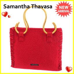 Samantha Thavasa【サマンサタバサ】 トートバッグ /ウールキャンバス×ウッド レディース