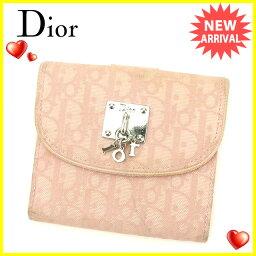 Dior【ディオール】 二つ折り財布(小銭入れあり) /キャンバス×レザー ユニセックス