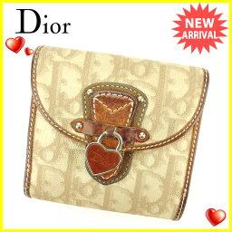 Dior【ディオール】 二つ折り財布(小銭入れあり) /PVC×レザー ユニセックス
