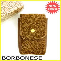 BORBONESE【ボルボネーゼ】 シガレットケース /スエード×レザー ユニセックス